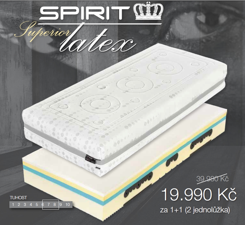 Matrace Spirit Superior Latex 180x200