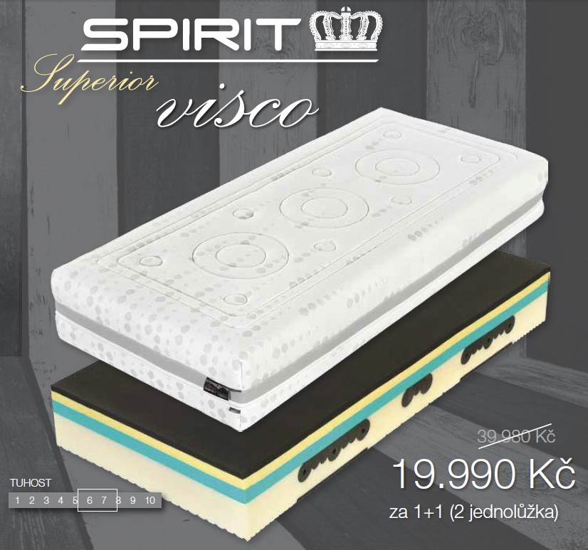 Matrace Spirit Superior Visco 140x200