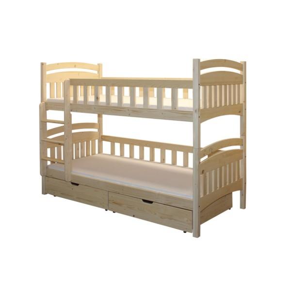 Poschoďová postel Honzík B402 - masiv smrk