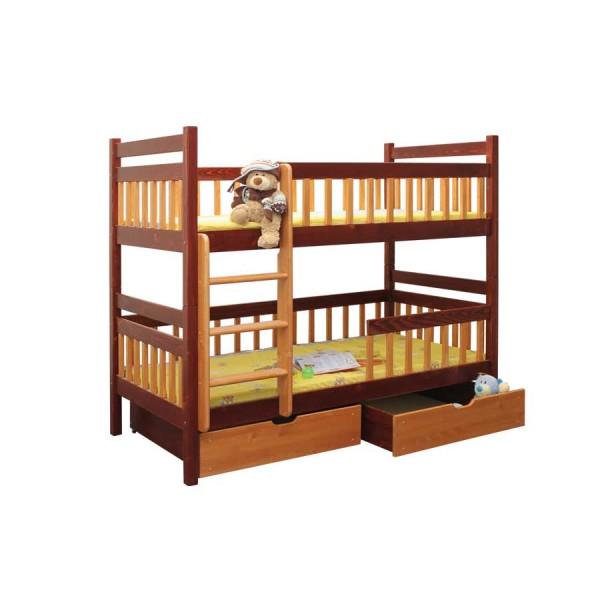Poschoďová postel Toníček B403- masiv smrk