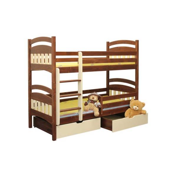Poschoďová postel Matýsek B404 - masiv smrk