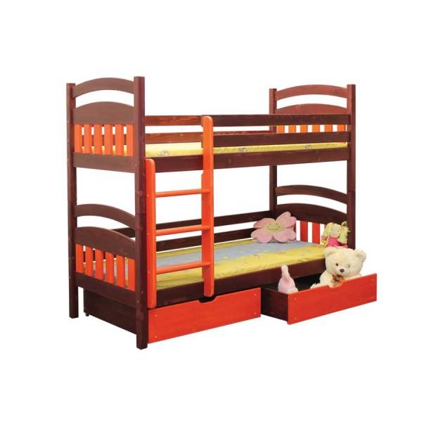 Poschoďová postel Šimonek B405 - masiv smrk
