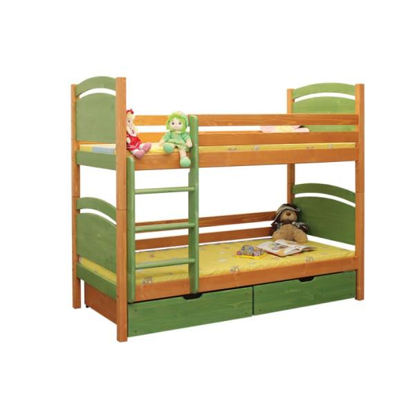 Poschoďová postel Filípek B406 - masiv smrk