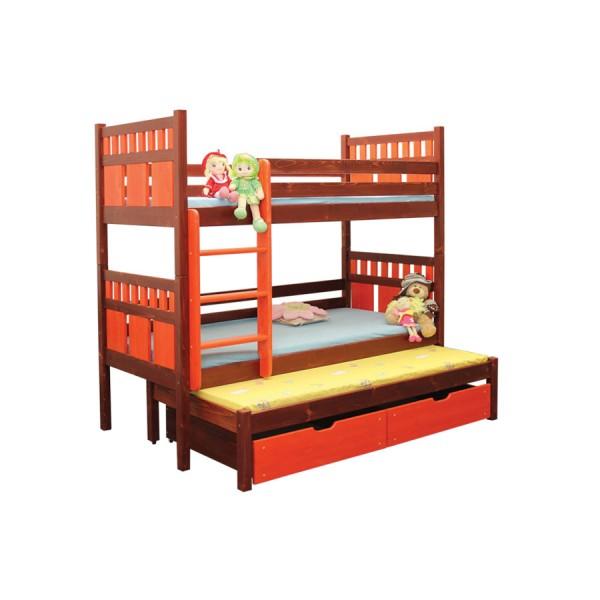 Poschoďová postel Vašík B408 - masiv smrk