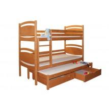 Poschoďová postel Davídek B409 - masiv smrk